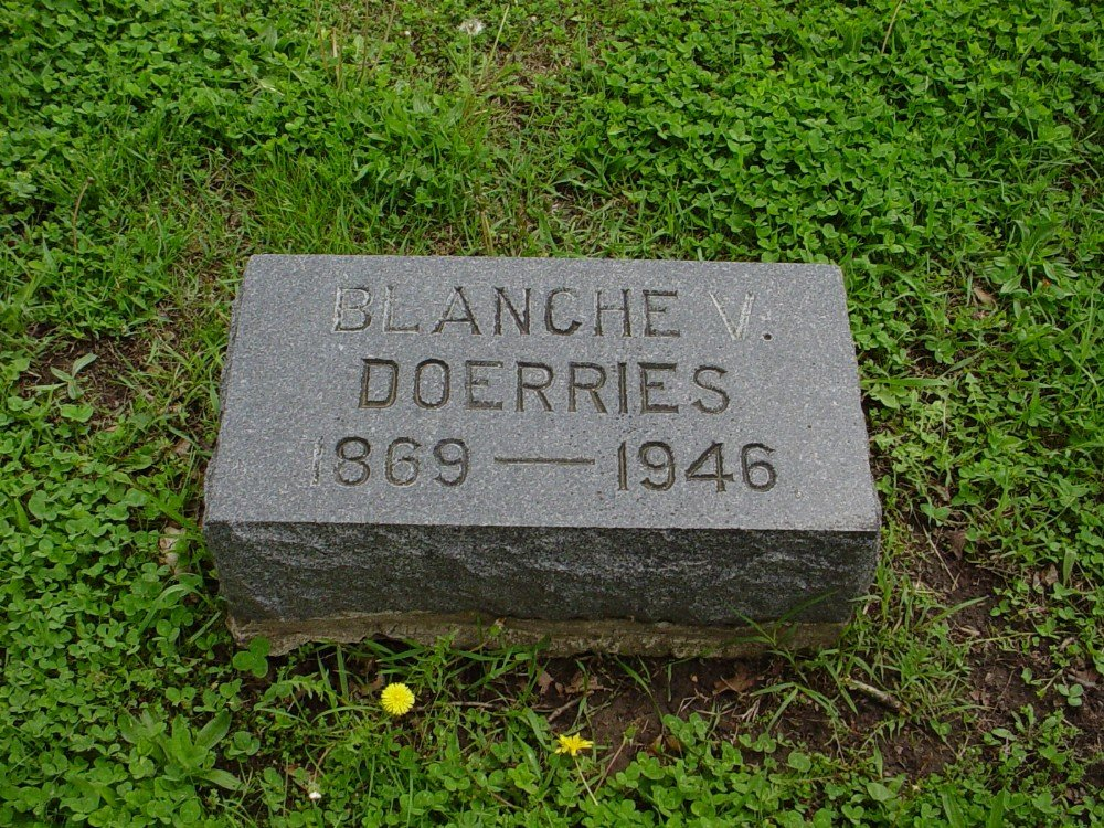 Blanche Allen Doerries Headstone Photo, Hillcrest Cemetery, Callaway County genealogy