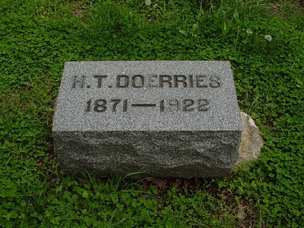 Herman Thedore Doerries Headstone Photo, Hillcrest Cemetery, Callaway County genealogy
