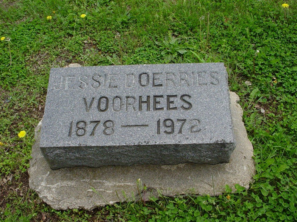 Jessie Doerries Voorhees Headstone Photo, Hillcrest Cemetery, Callaway County genealogy