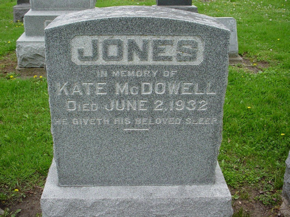 Kate M. Taylor Jones Headstone Photo, Hillcrest Cemetery, Callaway County genealogy