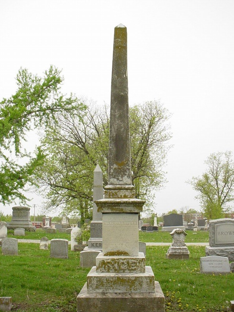 Rice family Headstone Photo, Hillcrest Cemetery, Callaway County genealogy