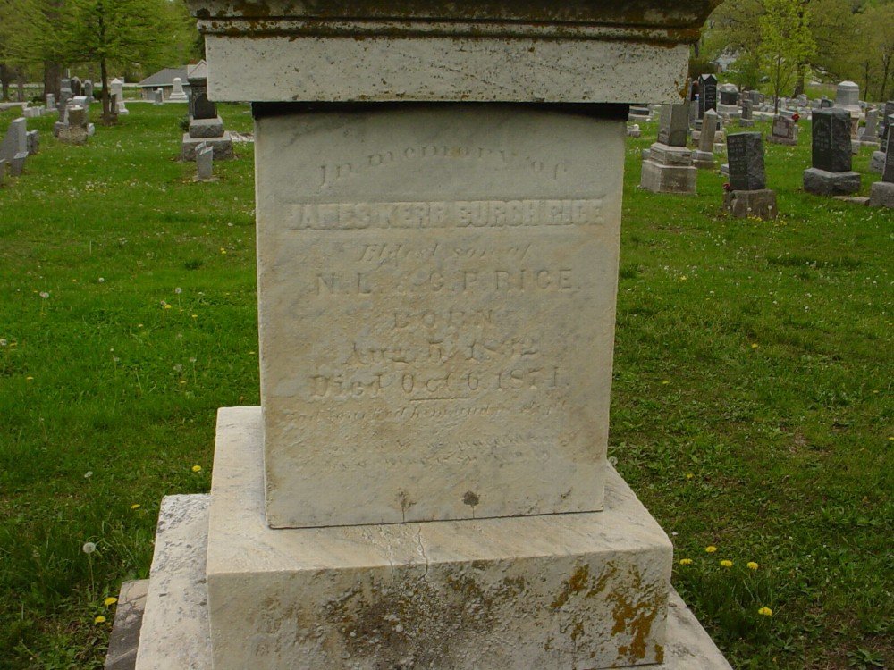 James K.B. Rice Headstone Photo, Hillcrest Cemetery, Callaway County genealogy