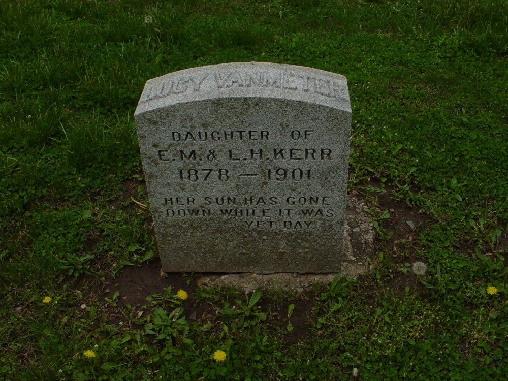 Lucy VanMeter Kerr Headstone Photo, Hillcrest Cemetery, Callaway County genealogy