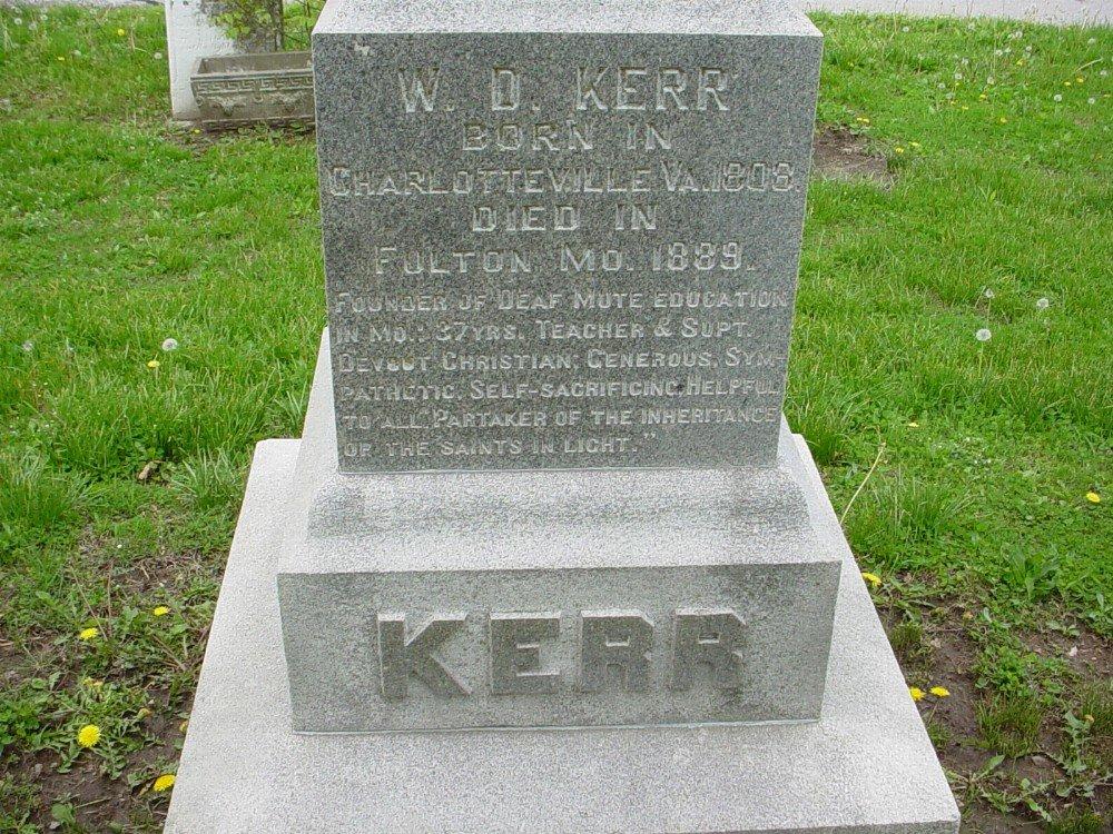 W.D. Kerr Headstone Photo, Hillcrest Cemetery, Callaway County genealogy