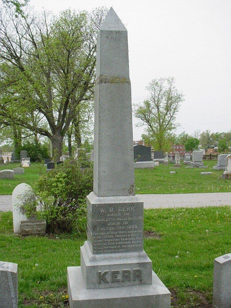 Kerr family Headstone Photo, Hillcrest Cemetery, Callaway County genealogy
