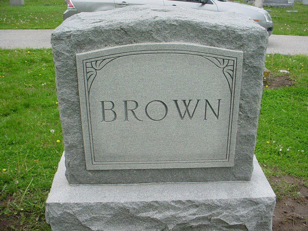 Brown family Headstone Photo, Hillcrest Cemetery, Callaway County genealogy