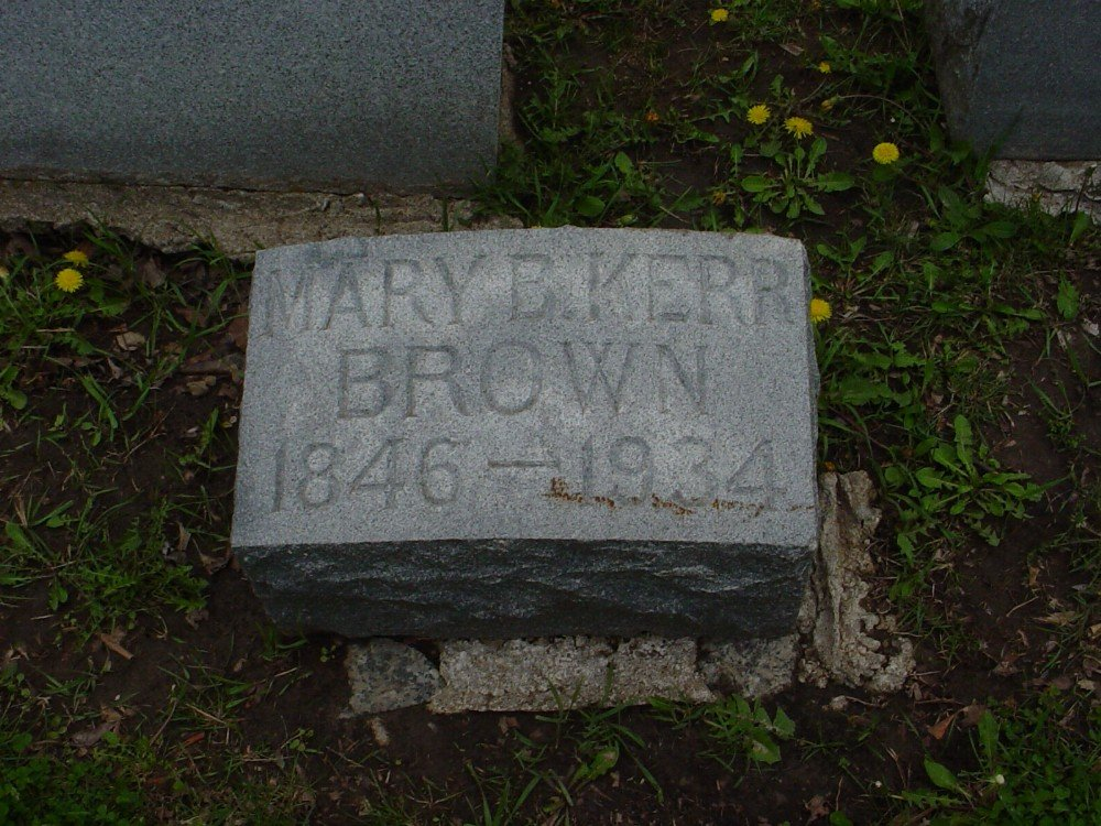 Mary Bell Kerr Brown Headstone Photo, Hillcrest Cemetery, Callaway County genealogy