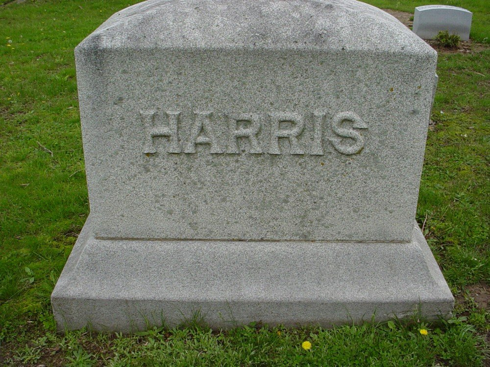 Harris family Headstone Photo, Hillcrest Cemetery, Callaway County genealogy