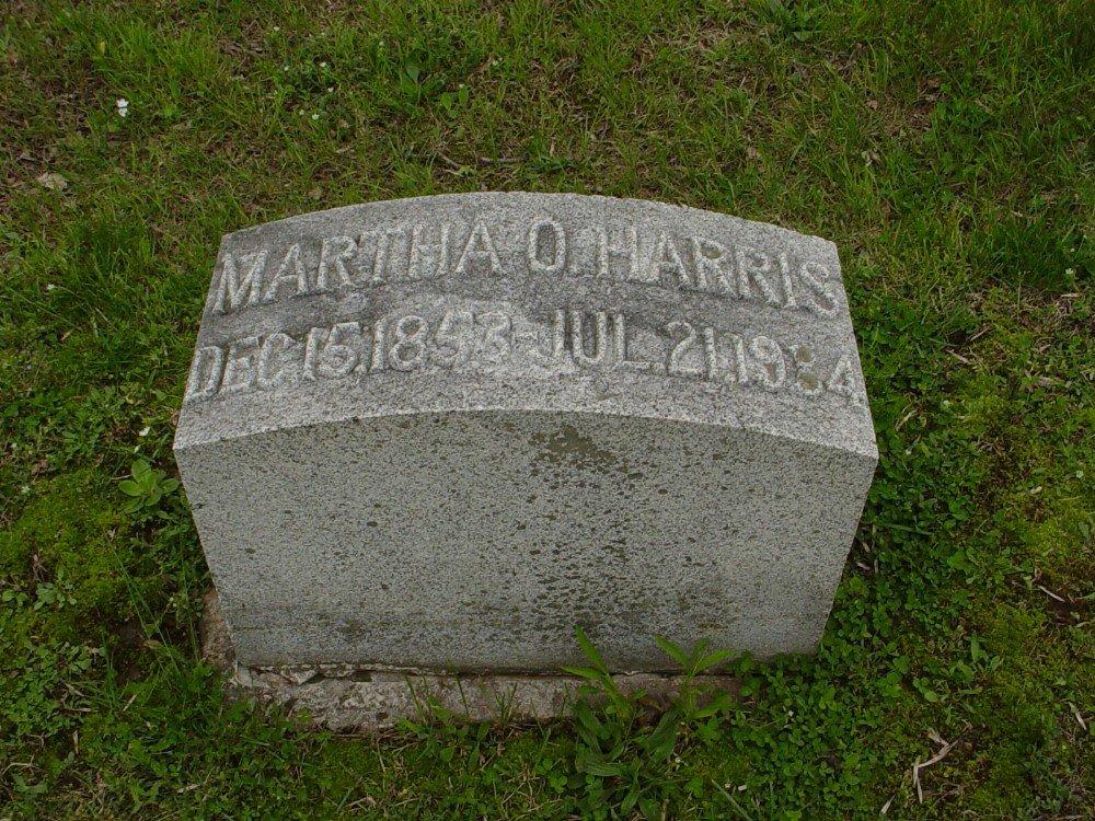 Martha D. Harris Headstone Photo, Hillcrest Cemetery, Callaway County genealogy