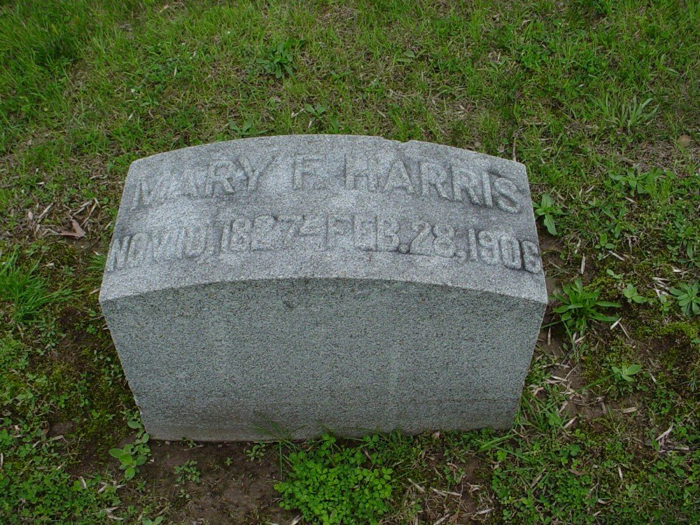 Mary Frances Harris Headstone Photo, Hillcrest Cemetery, Callaway County genealogy