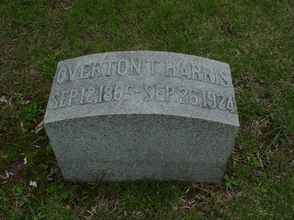 Overton T. Harris Headstone Photo, Hillcrest Cemetery, Callaway County genealogy