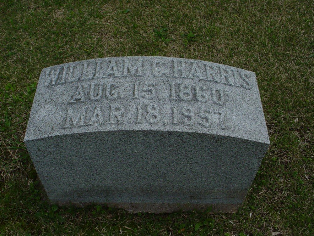 William Christopher Harris Headstone Photo, Hillcrest Cemetery, Callaway County genealogy