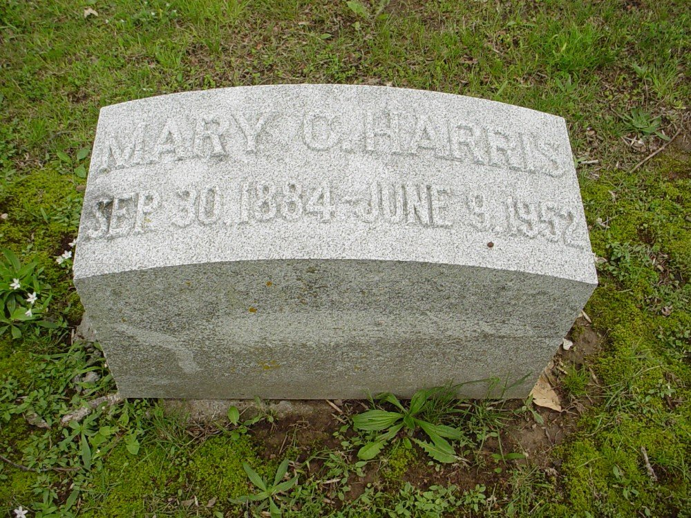 Mary Cannon Harris Headstone Photo, Hillcrest Cemetery, Callaway County genealogy