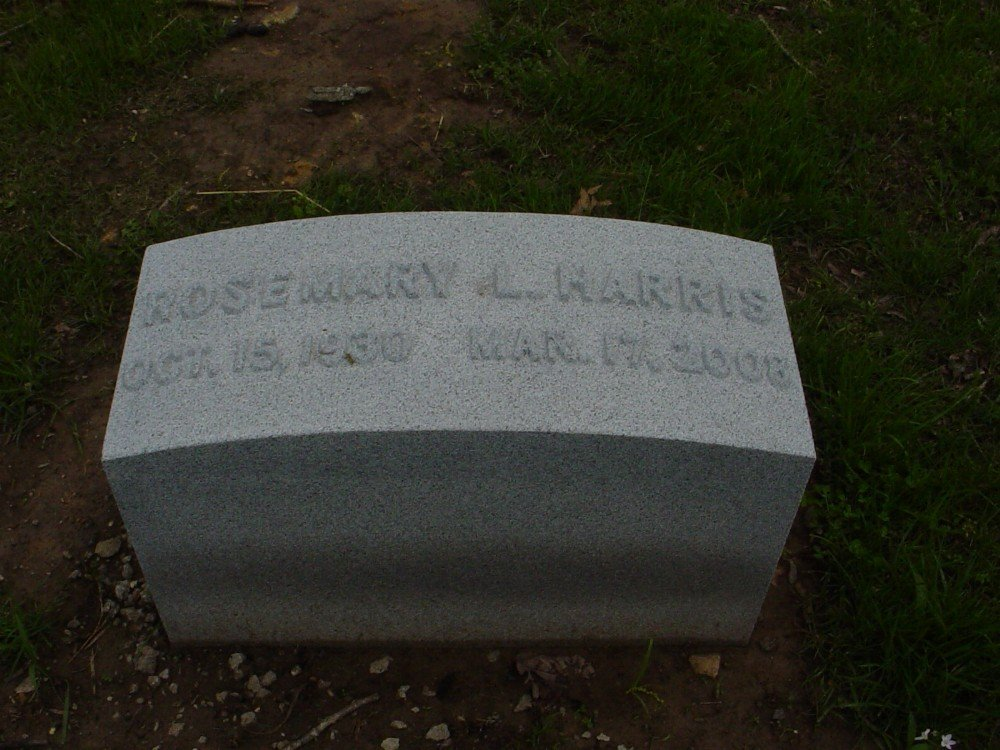 Rosemary L. Harris Headstone Photo, Hillcrest Cemetery, Callaway County genealogy