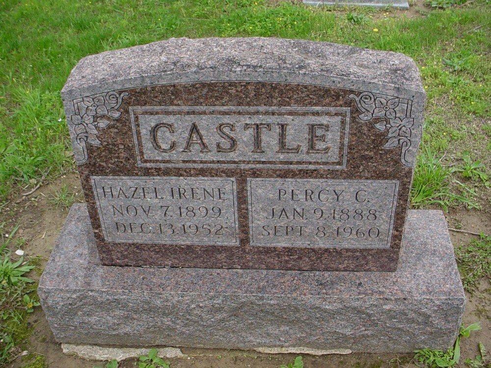 Percy C. Castle & Hazel Irene Brewer Headstone Photo, Hillcrest Cemetery, Callaway County genealogy