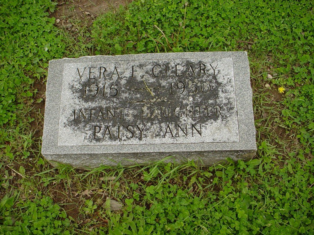 Vera F. Roedder Cleary Headstone Photo, Hillcrest Cemetery, Callaway County genealogy