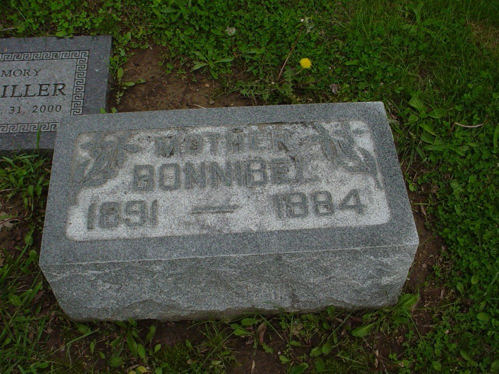 Bonnibel Bartley Miller Headstone Photo, Hillcrest Cemetery, Callaway County genealogy