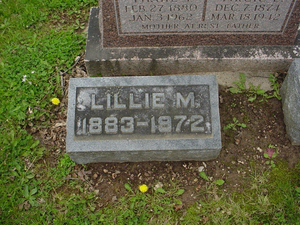 Lillie Mae Tracer Hazelrigg Headstone Photo, Hillcrest Cemetery, Callaway County genealogy