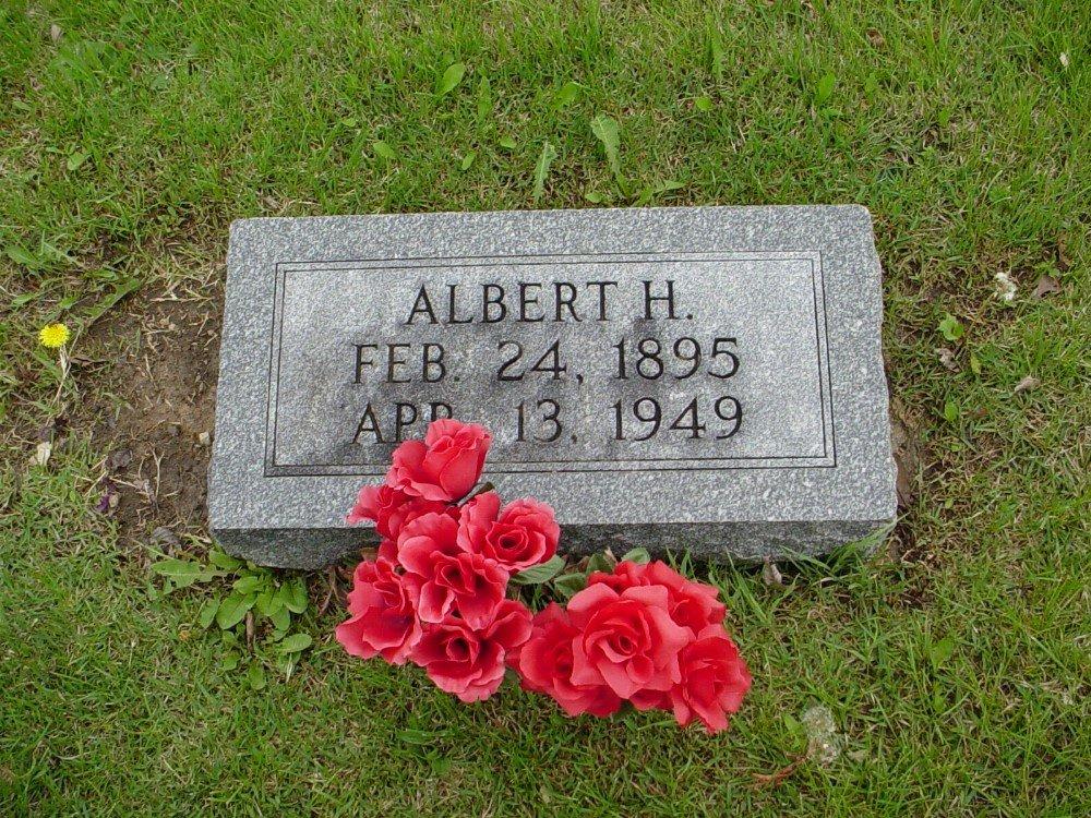 Albert Hiram Jatho Headstone Photo, Hillcrest Cemetery, Callaway County genealogy