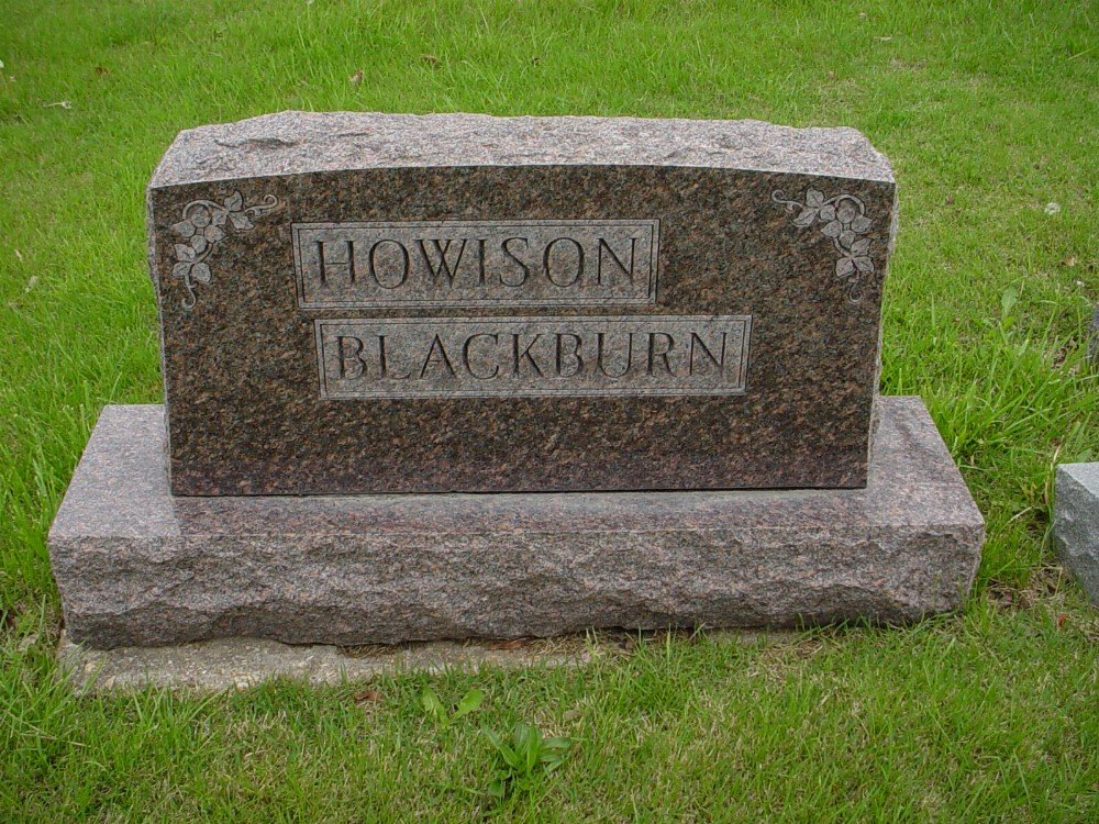 Blackburn - Howison family Headstone Photo, Hillcrest Cemetery, Callaway County genealogy