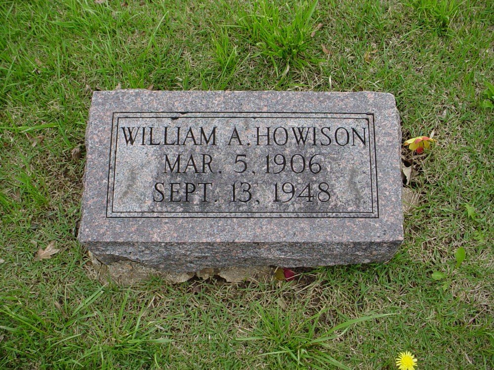 William Albert Howison Headstone Photo, Hillcrest Cemetery, Callaway County genealogy