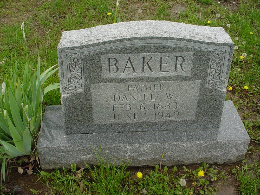Daniel W. Baker Headstone Photo, Hillcrest Cemetery, Callaway County genealogy