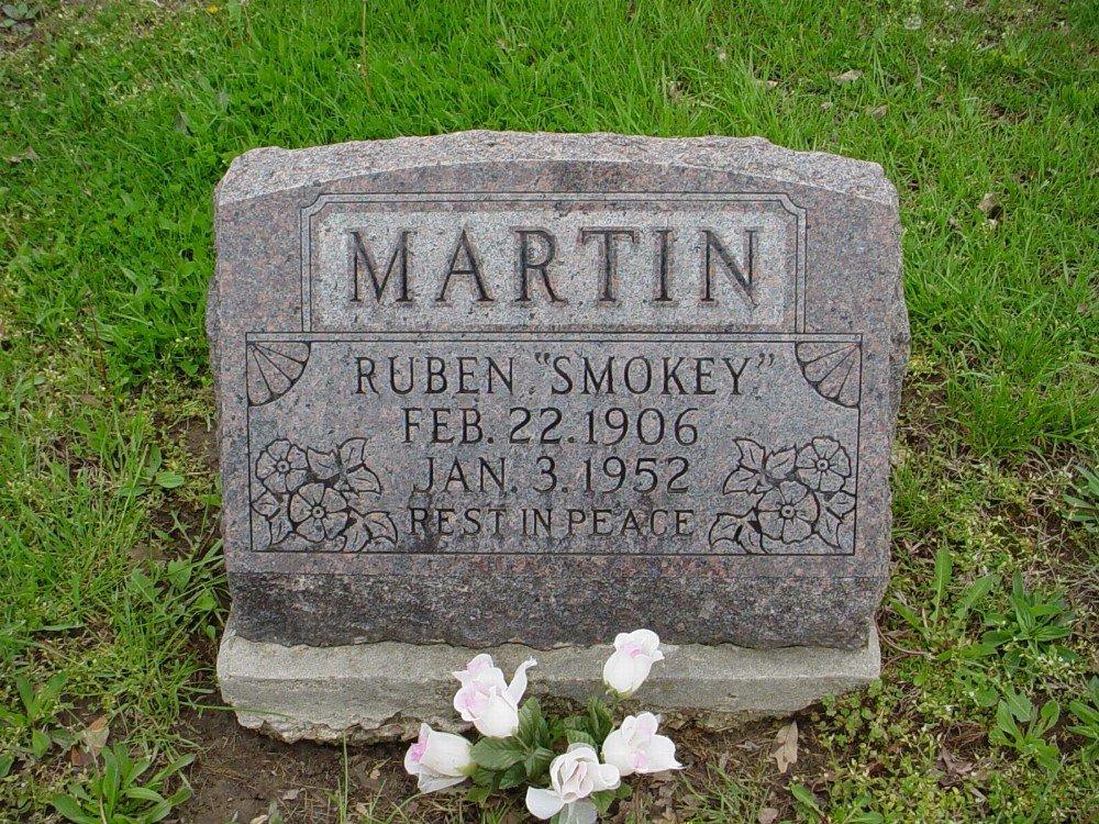 Ruben Martin Headstone Photo, Hillcrest Cemetery, Callaway County genealogy