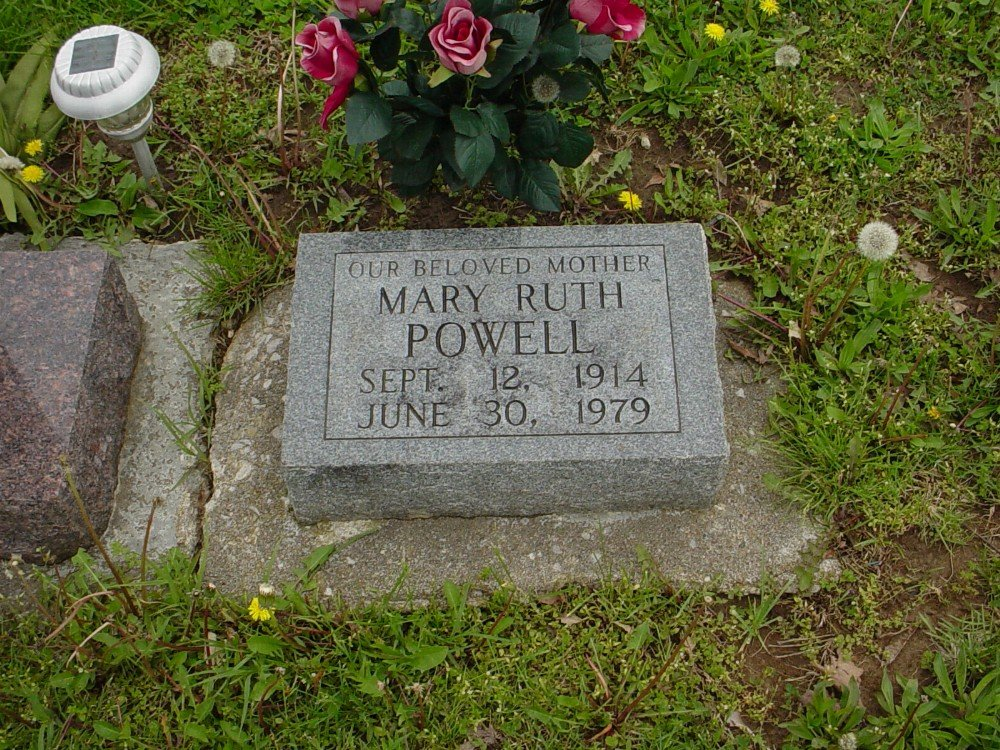 Mary Ruth Powell Headstone Photo, Hillcrest Cemetery, Callaway County genealogy