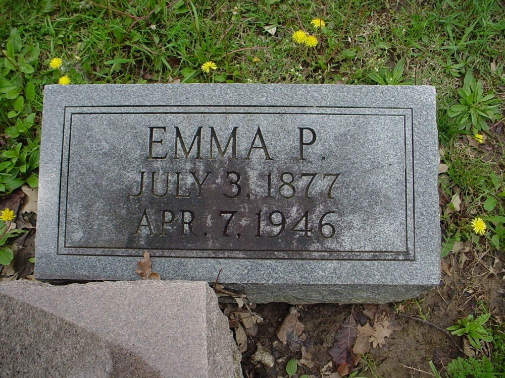 Emma Pasley Waters Headstone Photo, Hillcrest Cemetery, Callaway County genealogy