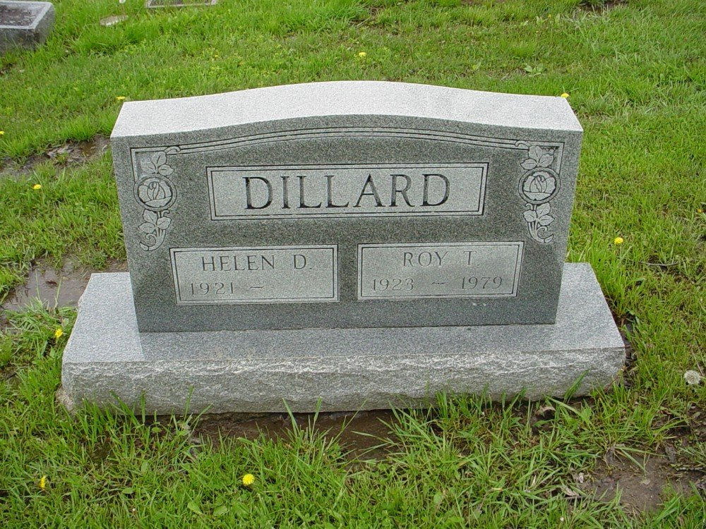 Roy L. Dillard Headstone Photo, Hillcrest Cemetery, Callaway County genealogy