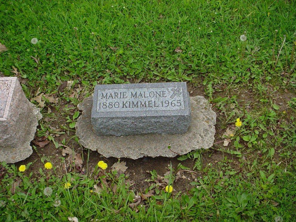 Marie Malone Kimmel Headstone Photo, Hillcrest Cemetery, Callaway County genealogy