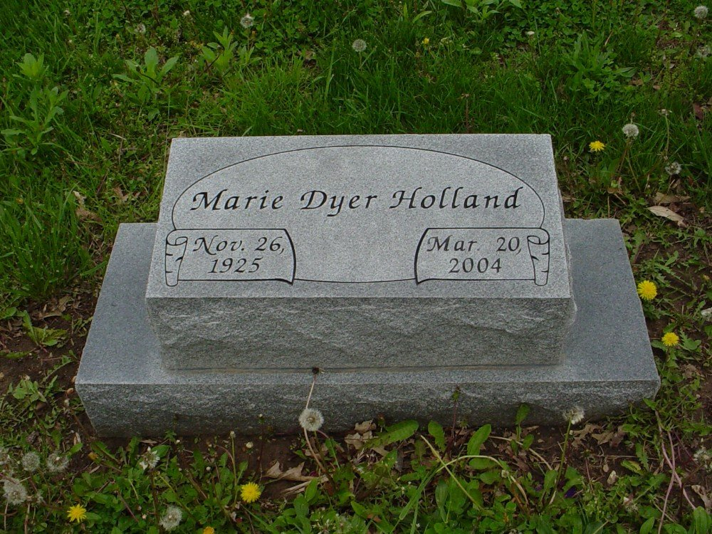 Mary Dyer Holland Headstone Photo, Hillcrest Cemetery, Callaway County genealogy