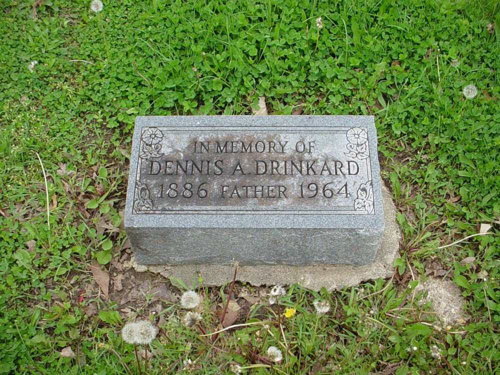 Dennis A. Drinkard Headstone Photo, Hillcrest Cemetery, Callaway County genealogy