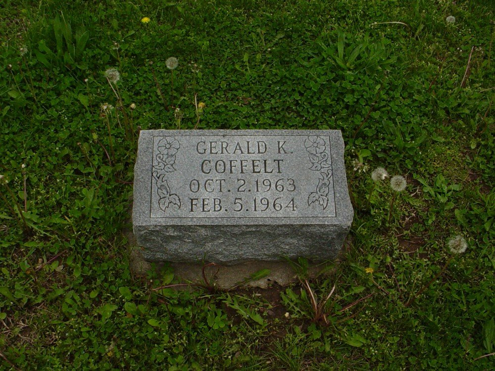 Gerald K. Coffelt Headstone Photo, Hillcrest Cemetery, Callaway County genealogy