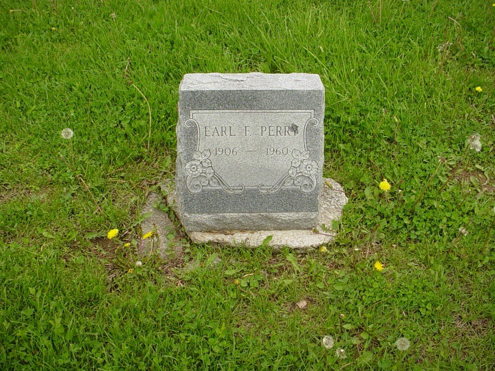 Earl F. Perry Headstone Photo, Hillcrest Cemetery, Callaway County genealogy