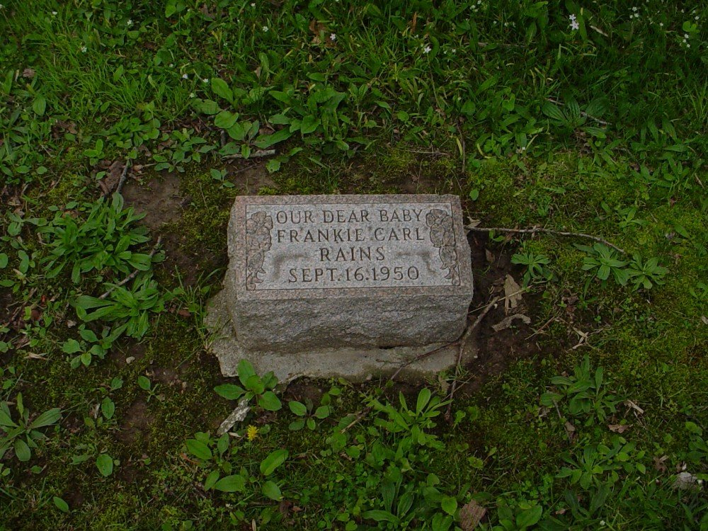 Frankie Carl Rains Headstone Photo, Hillcrest Cemetery, Callaway County genealogy