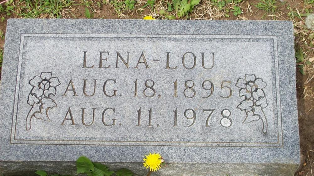Lena-Lou Lawrence Headstone Photo, Hillcrest Cemetery, Callaway County genealogy