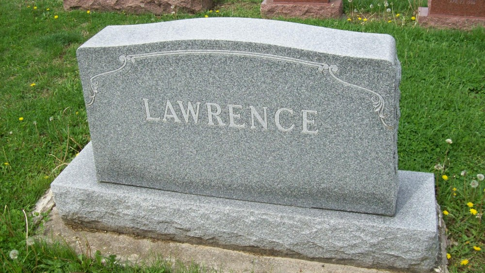 Lawrence family Headstone Photo, Hillcrest Cemetery, Callaway County genealogy