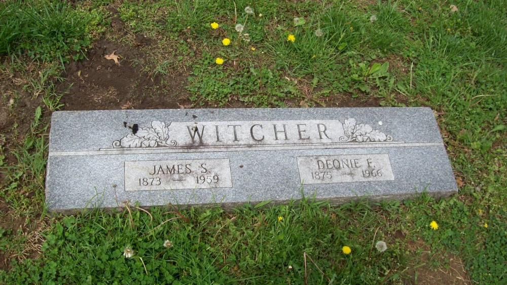 James S. Witcher & Deonie Frances Headstone Photo, Hillcrest Cemetery, Callaway County genealogy
