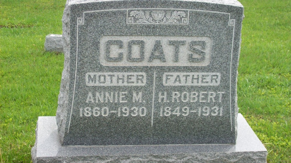 Henry Robert Coats & Annie McCall Headstone Photo, Hillcrest Cemetery, Callaway County genealogy