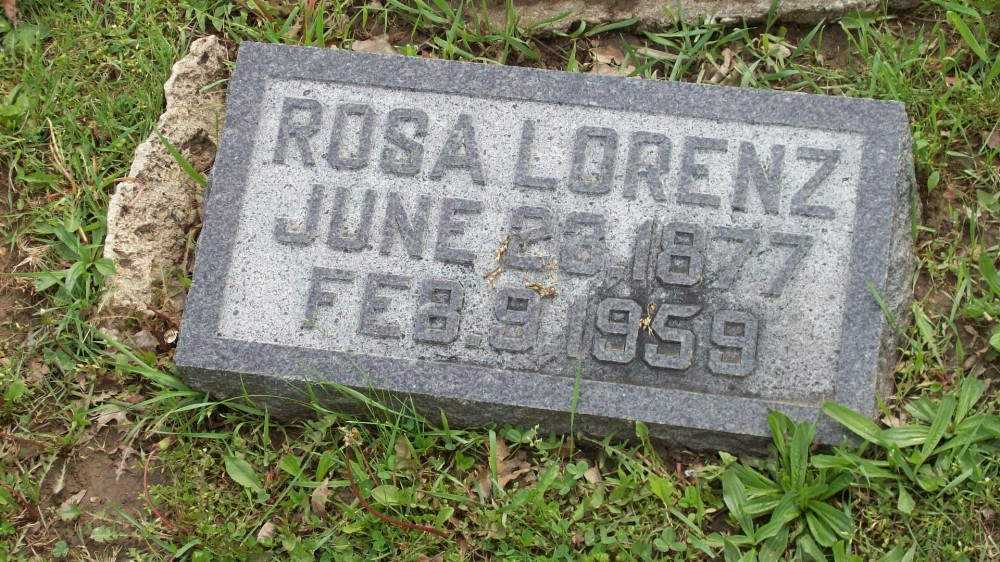 Rosa Lorenz Headstone Photo, Hillcrest Cemetery, Callaway County genealogy