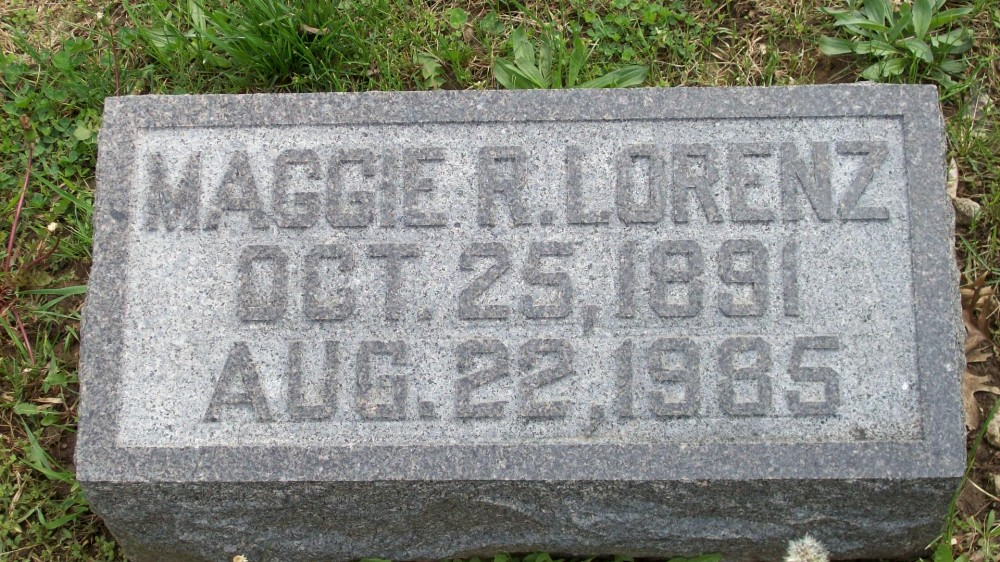 Maggie R. Lorenz Headstone Photo, Hillcrest Cemetery, Callaway County genealogy