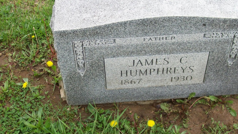 James C. Humphreys Headstone Photo, Hillcrest Cemetery, Callaway County genealogy