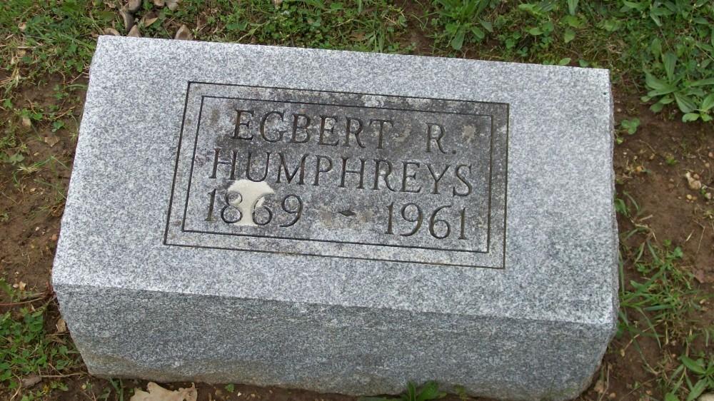 Egbert R. Humphreys Headstone Photo, Hillcrest Cemetery, Callaway County genealogy