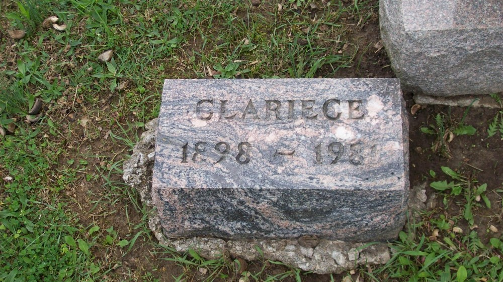 Clariece E. Dudley Jatho Headstone Photo, Hillcrest Cemetery, Callaway County genealogy