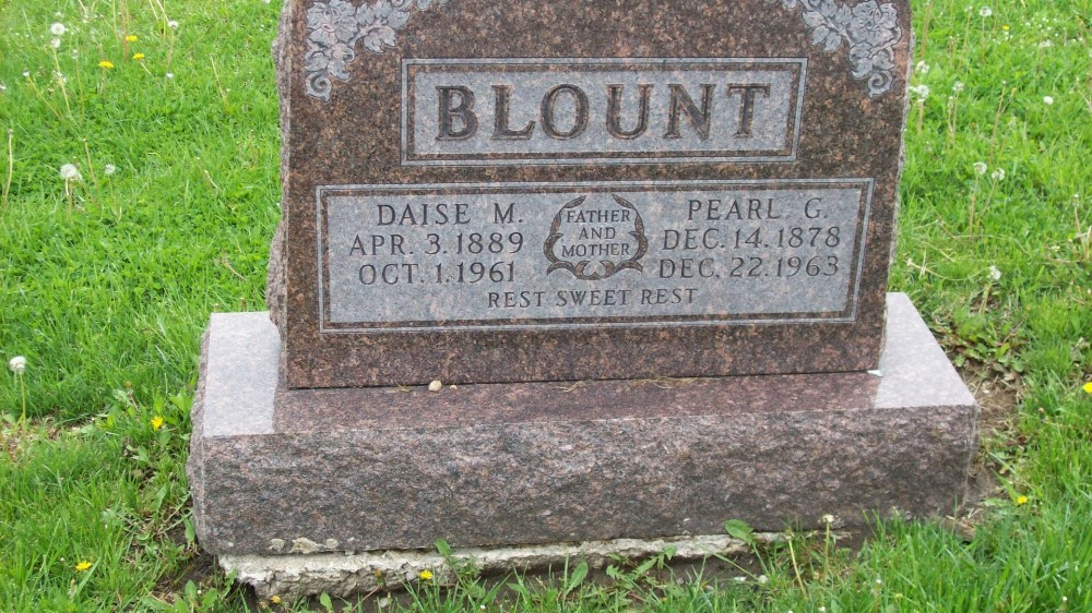 Pearl G. Blount & Daise Mahoney Headstone Photo, Hillcrest Cemetery, Callaway County genealogy