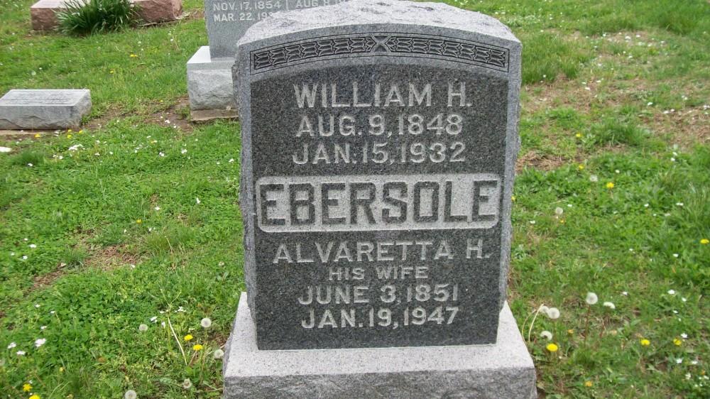 William H. Ebersole & Alvaretta H. Gingrich Headstone Photo, Hillcrest Cemetery, Callaway County genealogy