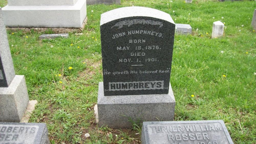 John Humphreys Headstone Photo, Hillcrest Cemetery, Callaway County genealogy