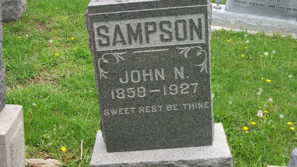 John Nesbit Sampson Headstone Photo, Hillcrest Cemetery, Callaway County genealogy