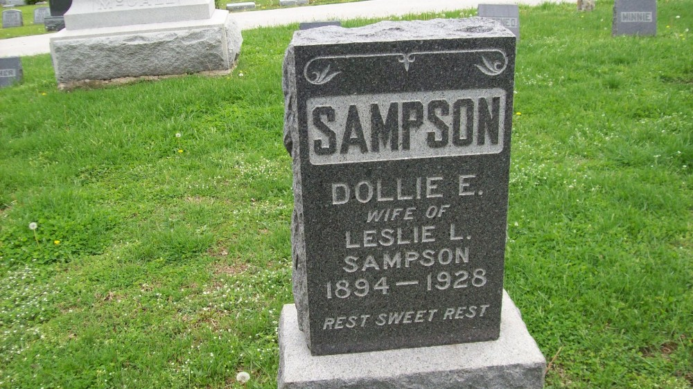 "Donna ""Dollie"" E. Guerrant Sampson Headstone Photo, Hillcrest Cemetery, Callaway County genealogy"